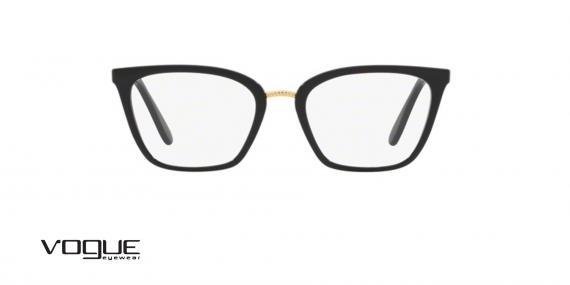 عینک طبی گربه ای وگ - VOGUE VO5260  - عکاسی وحدت -فریم مشکی -  عکس زاویه روبرو