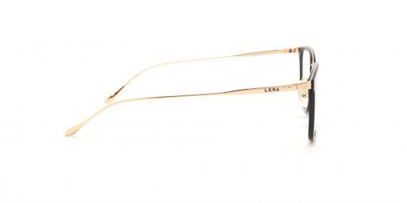 عینک طبی لنا - LENA LE403 - مشکی طلایی - عکاسی وحدت - عکس زاویه کنار