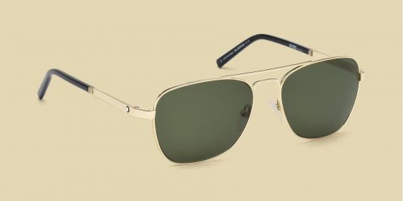 عینک آفتابی مون بلان - بدنه طلایی - شیشه سبز زایس