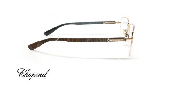 عینک طبی زیر گریف دسته چوبی شوپارد - CHOPARD VCHB54 - عکاسی وحدت - عکس زاویه کنار