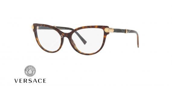 عینک طبی گربه ای ورساچه - VERSACE VE3270Q - عکاسی وحدت - عکس زاویه سه رخ