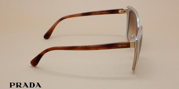 آفتابی پرادا مدل SPR56T - عکاسی وحدت - زاویه کنار - قهوه ای شیری