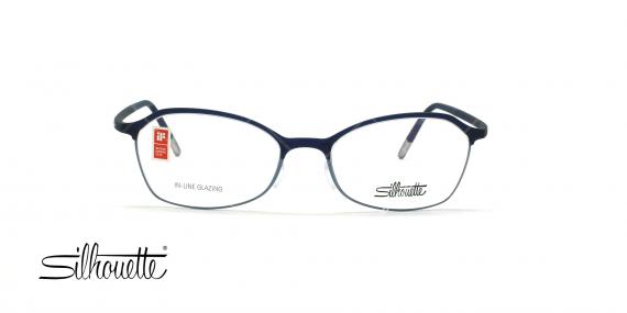 عینک طبی گربه ای سیلوئت - Silhouette1582 -سرمه ای- عکس وحدت - زاویه روبرو