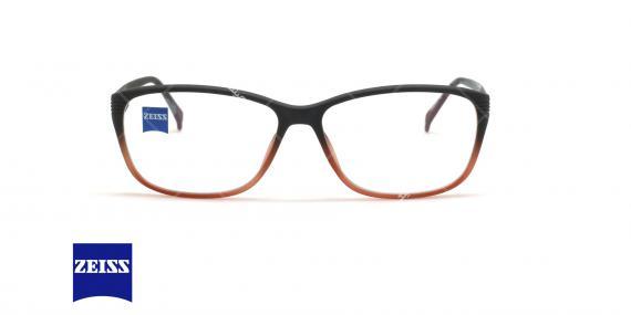 عینک طبی کائوچویی زایس ZEISS ZS10005 - مشکی قرمز - عکاسی وحدت - زاویه روبرو
