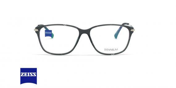 عینک طبی تیتانیوم زایس ZEISS ZS10009  - مشکی نقره ای - عکاسی وحدت - زاویه روبرو