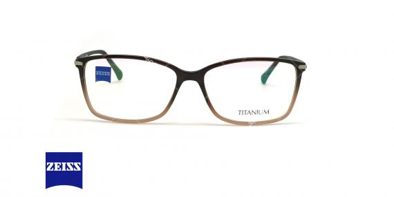 عینک طبی تیتانیوم زایس ZEISS ZS10016 - قهوه ای طیفدار - عکاسی وحدت - زاویه روبرو