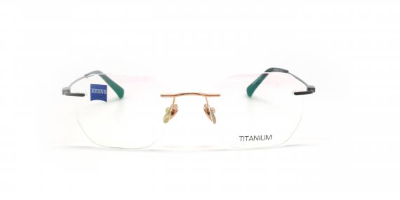 عینک طبی گریف زایس ZEISS ZS50006 - طلایی مشکی - عکاسی وحدت - زاویه روبرو