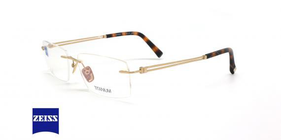 عینک طبی گریف زایس ZEISS ZS60002 - طلایی - عکاسی وحدت - زاویه سه رخ