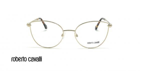 عینک طبی گربه ای روبرتو کاوالی - ROBERTO CAVALLI LUCIGNENO RC5065 - نقره ای - عکاسی وحدت - زاویه روبرو