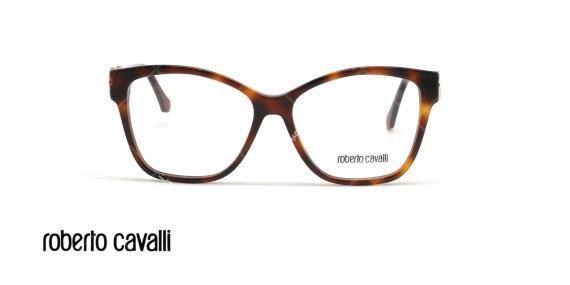 عینک طبی پروانه ای روبرتو کاوالی - ROBERTO CAVALLI RC5063  - قهوه ای هاوانا - عکاسی وحدت - زاویه روبرو