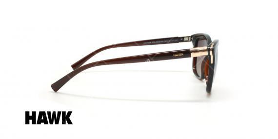 عینک آفتابی پولاریزه هاوک - HAWK POLARIZED HW1624 - قهوه ای - عکاسی وحدت - زاویه کنار