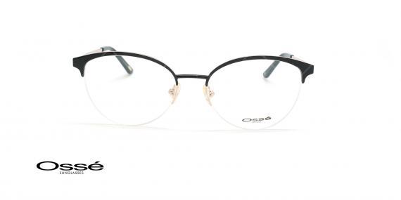 عینک طبی گربه ای اوسه - Osse Os11857 - مشکی - عکاسی وحدت - زاویه روبرو