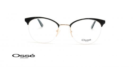 عینک طبی زیرگریف اوسه - Osse Os11901 - مشکی طلایی - عکاسی وحدت - زاویه روبرو