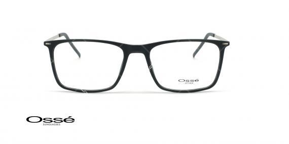 عینک طبی مستطیلی اوسه - Osse Os12037 - مشکی نقره ای - عکاسی وحدت - زاویه روبرو
