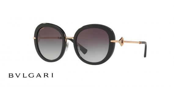 عینک آفتابی بولگاری پروانه ای مشکی رنگ - زاویه سه رخ