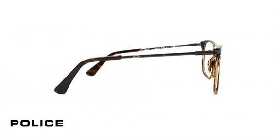 عینک طبی پلیس - POLICE VPL563- رنگ فریم قهوه ای هاوانا- اپتیک وحدت - عکس از کنار