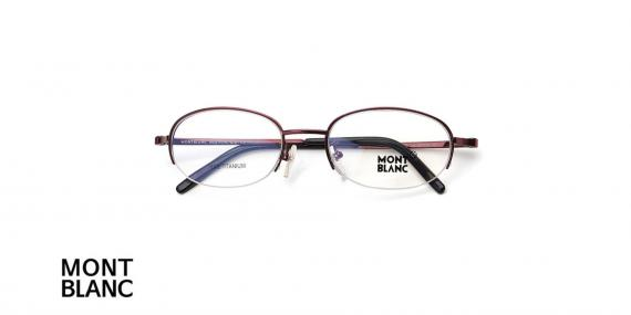 عینک طبی زیر گریف مونت بلانک - MONTBLANC MB95 - رنگ نقره ای - اپتیک وحدت - عکس زاویه روبرو