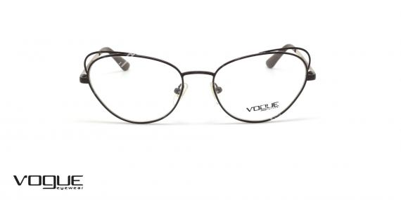 عینک گربه ای زنانه وگ - VOGUE VO4056 - رنگ مشکی و طلایی- عکاسی وحدت - عکس زاویه روبرو