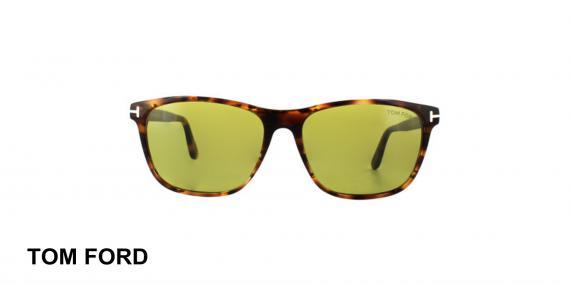 عینک آفتابی تام فورد - TOMFORD TF629 - قهوه ای هاوانا - اپتیک وحدت - عکس زاویه روبرو