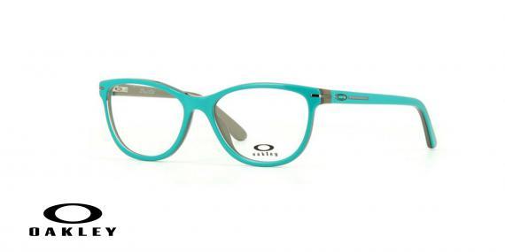 عینک طبی اوکلی - از داخل کرمی از بیرون آبی - ویژه فروش آنلاین - زاویه سه رخ