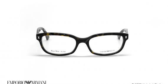 عینک طبی بیضی امپریو آرمانی - Emporio Armani EA9862 - مشکی هاوانا - عکاسی وحدت - زاویه روبرو