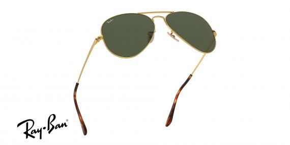 عینک آفتابی طرح خلبانی Ray-Ban بدنه طلایی شیشه سبز کلاسیک G15 - زاویه سه رخ