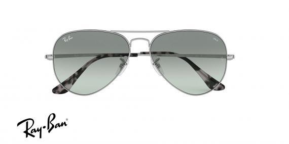 عینک آفتابی ری بن طرح خلبانی - بدنه نقره - شیشه فتوکرومیک - زاویه روبرو