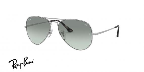 عینک آفتابی ری بن طرح خلبانی - بدنه نقره - شیشه فتوکرومیک - زاویه سه رخ