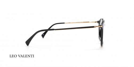 عینک طبی گرد لئو ولنتی - LEO VALENTI LV443 - عکاسی وحدت -  عکس زاویه کنار