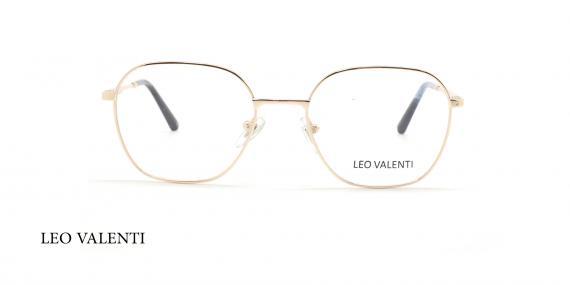 عینک طبی لئو ولنتی - LEOVALENTI LV444 - فریم طلایی - عکاسی وحدت - عگس زاویه روبرو