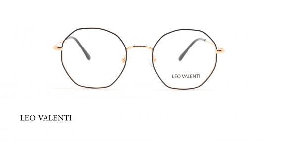 عینک طبی چندضلعی لئوولنتی - LEO VALENTI LV448 - عکاسی وحدت - عکس زاویه روبرو