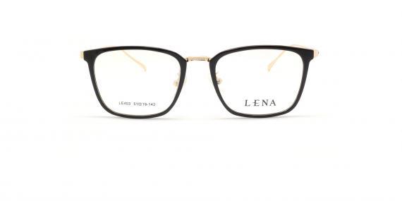 عینک طبی لنا - LENA LE403 - مشکی طلایی - عکاسی وحدت - عکس زاویه روبرو