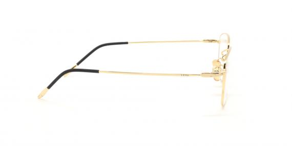 عینک طبی لنا - LENA LE406 - مشکی طلایی - عکاسی وحدت - عکس زاویه کنار