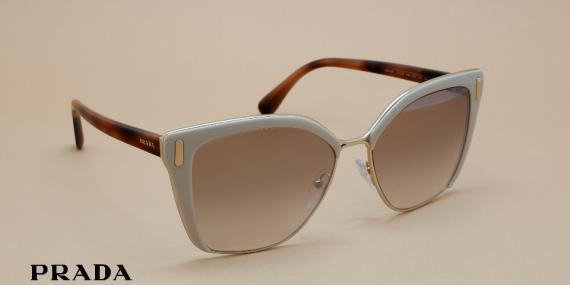 آفتابی پرادا مدل SPR56T - عکاسی وحدت - زاویه راست به چپ - قهوه ای شیری