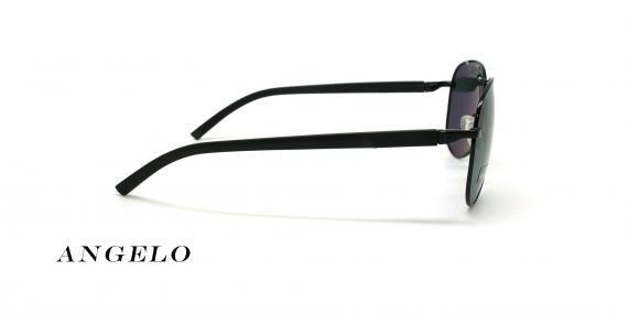 عینک آفتابی خلبانی آنجلو - ANGELO 8504 - رنگ مشکی - عکاسی وحدت - عکس زاویه کنار