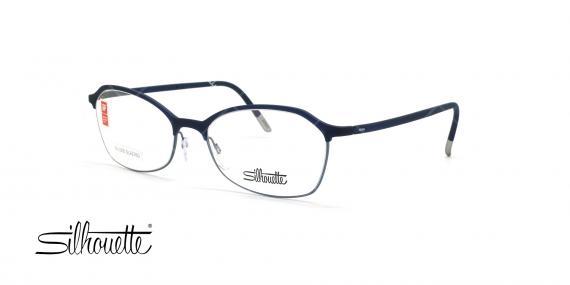 عینک طبی گربه ای سیلوئت - Silhouette1582 -سرمه ای- عکس وحدت - زاویه سه رخ
