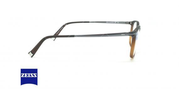 عینک طبی تیتانیومی زایس ZEISS ZS20004 - مشکی قهوه ای - عکاسی وحدت - زاویه کنار
