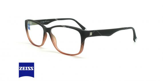 عینک طبی کائوچویی زایس ZEISS ZS10005 - مشکی قرمز - عکاسی وحدت - زاویه سه رخ