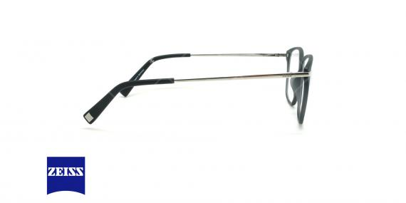 عینک طبی تیتانیوم زایس ZEISS ZS10009  - مشکی نقره ای - عکاسی وحدت - زاویه کنار