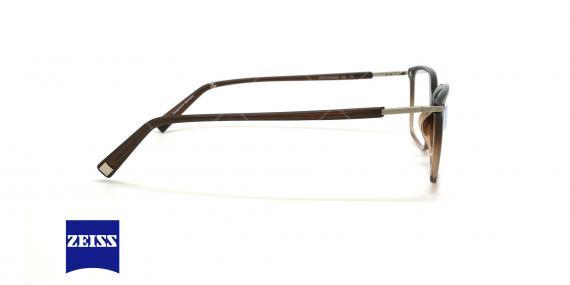 عینک طبی تیتانیوم زایس ZEISS ZS10016 - قهوه ای طیفدار - عکاسی وحدت - زاویه کنار
