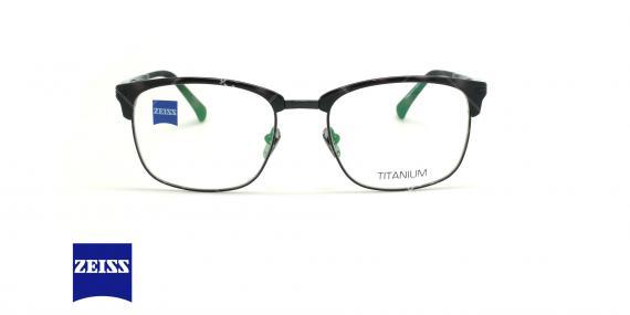 عینک طبی تیتانومی زایس ZEISS ZS30008 - مشکی - عکاسی وحدت - زاویه روبرو