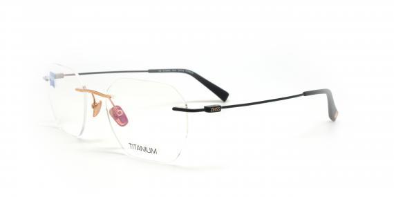 عینک طبی گریف زایس ZEISS ZS50006 - طلایی مشکی - عکاسی وحدت - زاویه سه رخ