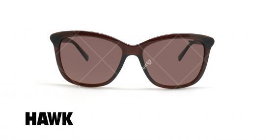 عینک آفتابی پولاریزه هاوک - HAWK POLARIZED HW1624 - قهوه ای - عکاسی وحدت - زاویه روبرو