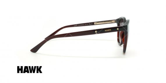 عینک آفتابی پلاریزه هاوک - HAWK POLARIZED HW1632 - قهوه ای - عکاسی وحدت - زاویه کنار