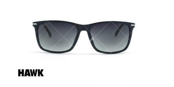 عینک آفتابی مربعی هاوک - HAWK HW1664 - مشکی - عکاسی وحدت - زاویه روبرو