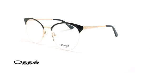 عینک طبی زیرگریف اوسه - Osse Os11901 - مشکی طلایی - عکاسی وحدت - زاویه سه رخ