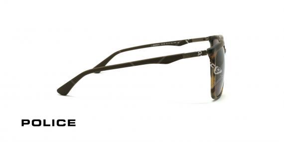 عینک آفتابی پلیس - POLICE SPL 363 - فریم  قهوه ای هاوانا  - عکاسی وحدت - زاویه کنار