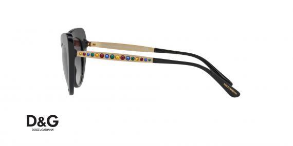 عینک آفتابی گربه ای دولچه و گابانا -  DOLCE & GABBANA DG4307 - رنگ مشکی - اپتیک وحدت - عکس زاویه کنار