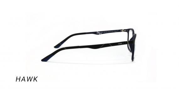 عینک طبی هاوک با رویه آفتابی - HAWK HW7232 - رنگ مشکی-عکس وحدت اپتیک - عکس زاویه کنار