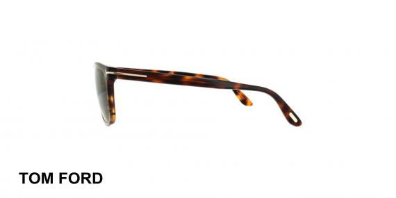 عینک آفتابی تام فورد - TOMFORD TF629 - قهوه ای هاوانا - اپتیک وحدت - عکس زاویه کنار
